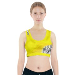 Fractal Abstract Background Sports Bra With Pocket