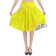 Fractal Abstract Background Flared Midi Skirt