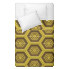 Golden 3d Hexagon Background Duvet Cover Double Side (single Size)