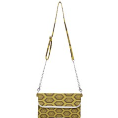 Golden 3d Hexagon Background Mini Crossbody Handbag by Jojostore