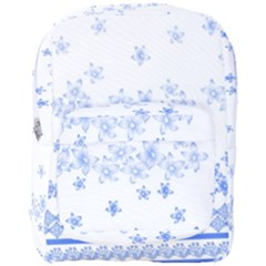 Blue And White Floral Background Full Print Backpack by Jojostore