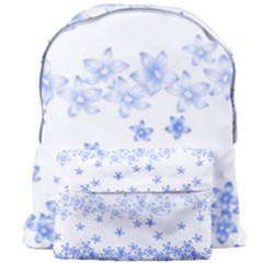 Blue And White Floral Background Giant Full Print Backpack by Jojostore