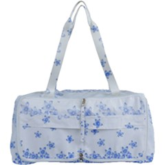 Blue And White Floral Background Multi Function Bag by Jojostore