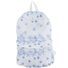 Blue And White Floral Background Foldable Lightweight Backpack by Jojostore