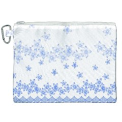 Blue And White Floral Background Canvas Cosmetic Bag (xxl) by Jojostore