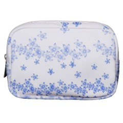 Blue And White Floral Background Make Up Pouch (small) by Jojostore