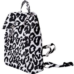 Black And White Leopard Skin Buckle Everyday Backpack