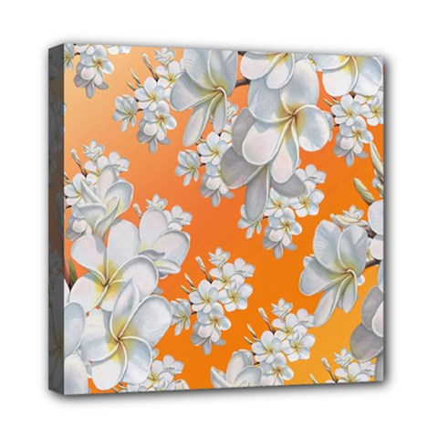 Flowers Background Backdrop Floral Mini Canvas 8  X 8  (stretched) by Jojostore