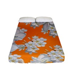 Flowers Background Backdrop Floral Fitted Sheet (full/ Double Size)