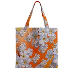 Flowers Background Backdrop Floral Zipper Grocery Tote Bag by Jojostore