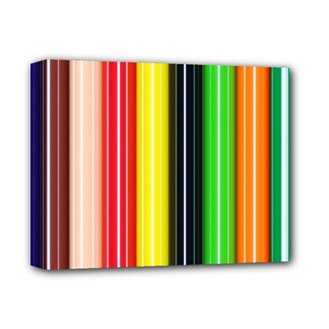 Colorful Striped Background Wallpaper Pattern Deluxe Canvas 14  X 11  (stretched) by Jojostore