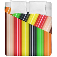 Colorful Striped Background Wallpaper Pattern Duvet Cover Double Side (california King Size)