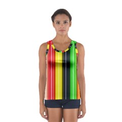 Colorful Striped Background Wallpaper Pattern Sport Tank Top