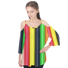 Colorful Striped Background Wallpaper Pattern Flutter Tees