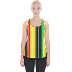 Colorful Striped Background Wallpaper Pattern Piece Up Tank Top