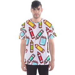 Seamless Pixel Art Pattern Men s Sports Mesh Tee