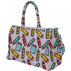 Seamless Pixel Art Pattern Duffel Travel Bag by Jojostore
