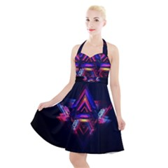 Abstract Desktop Backgrounds Halter Party Swing Dress