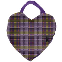 Playing With Plaid Kitten Halloween  Giant Heart Shaped Tote