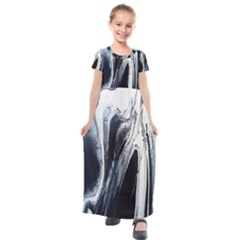 Odin s View 2 Kids  Short Sleeve Maxi Dress by WILLBIRDWELL