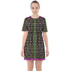 Summer Time Is Over And Cousy Fall Season Feelings Are Here Sixties Short Sleeve Mini Dress by pepitasart
