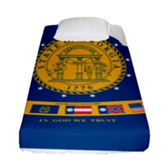 Flag Map Of Georgia, 2001 2003 Fitted Sheet (single Size)