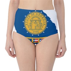 Flag Map Of Georgia, 2001 2003 Classic High Waist Bikini Bottoms