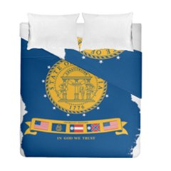 Flag Map Of Georgia, 2001 2003 Duvet Cover Double Side (full/ Double Size)