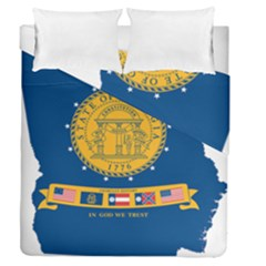 Flag Map Of Georgia, 2001 2003 Duvet Cover Double Side (queen Size)