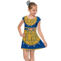 Flag Map Of Georgia, 2001 2003 Kids Cap Sleeve Dress
