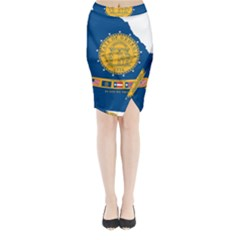 Flag Map Of Georgia, 2001 2003 Midi Wrap Pencil Skirt