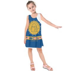 Flag Map Of Georgia, 2001 2003 Kids  Sleeveless Dress