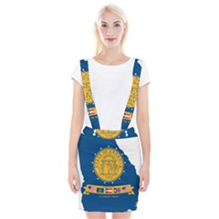 Flag Map Of Georgia, 2001 2003 Braces Suspender Skirt