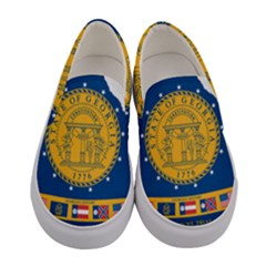 Flag Map Of Georgia, 2001 2003 Women s Canvas Slip Ons