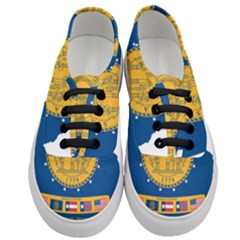 Flag Map Of Georgia, 2001 2003 Women s Classic Low Top Sneakers