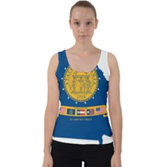 Flag Map Of Georgia, 2001 2003 Velvet Tank Top