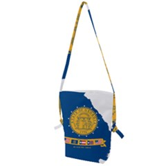 Flag Map Of Georgia, 2001 2003 Folding Shoulder Bag