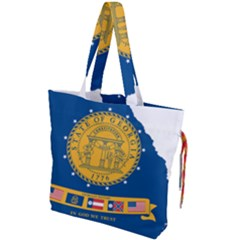 Flag Map Of Georgia, 2001 2003 Drawstring Tote Bag