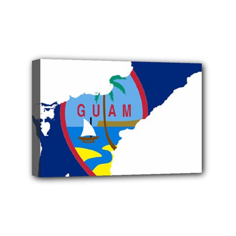 Flag Map Of Guam Mini Canvas 6  X 4  (stretched) by abbeyz71