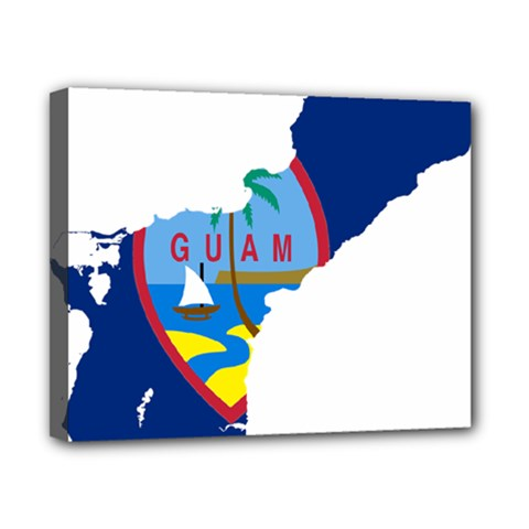 Flag Map Of Guam Canvas 10  X 8  (stretched) by abbeyz71