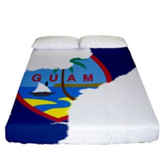 Flag Map Of Guam Fitted Sheet (king Size)