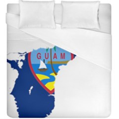 Flag Map Of Guam Duvet Cover (king Size) by abbeyz71