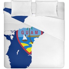 Flag Map Of Guam Duvet Cover Double Side (king Size) by abbeyz71