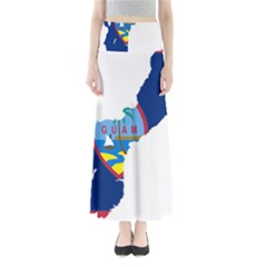 Flag Map Of Guam Full Length Maxi Skirt