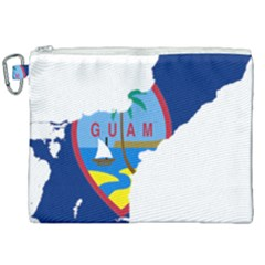 Flag Map Of Guam Canvas Cosmetic Bag (xxl) by abbeyz71