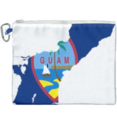Flag Map Of Guam Canvas Cosmetic Bag (xxxl) by abbeyz71