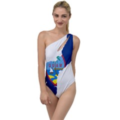 Flag Map Of Guam To One Side Swimsuit by abbeyz71