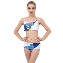 Flag Map Of Guam Layered Top Bikini Set