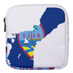 Flag Map Of Guam Mini Square Pouch by abbeyz71