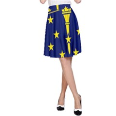 Flag Map Of Indiana A Line Skirt